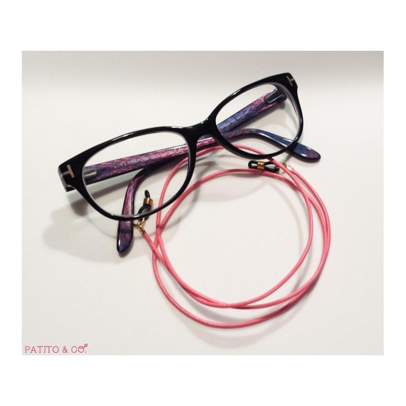 Cuelga gafas de cuero