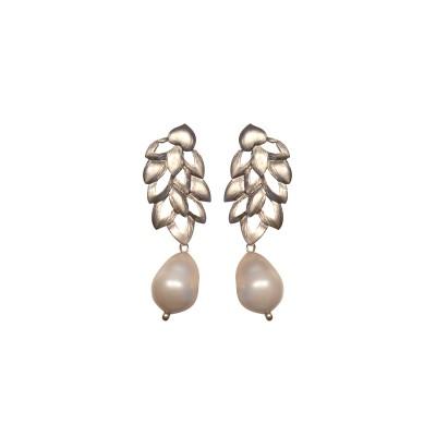 Pendientes Espiga de Plata y Perla