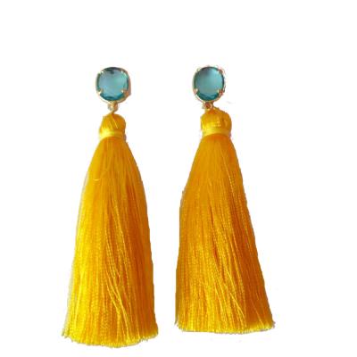 Pendientes Pompones Amarillos